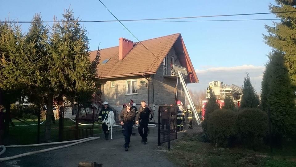 Pożar poddasza w Jaśkowicach