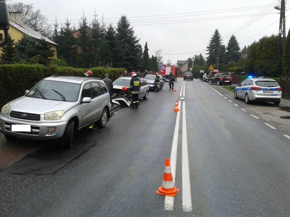 Borek Szlachecki: Kolizja 5 samochodów