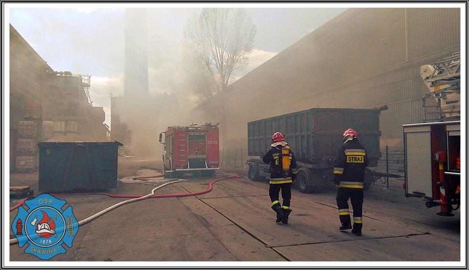 Pożar w firmie Clif