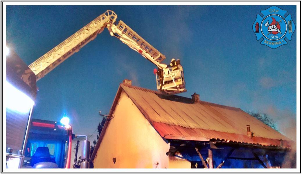 Palił się dom przy ul. Bukowskiej