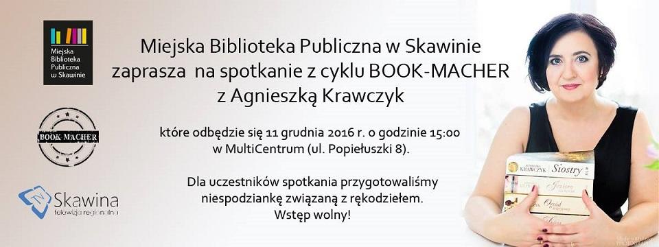 Spotkanie z pisarką Agnieszką Krawczyk