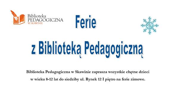Ferie z Biblioteką Pedagogiczną