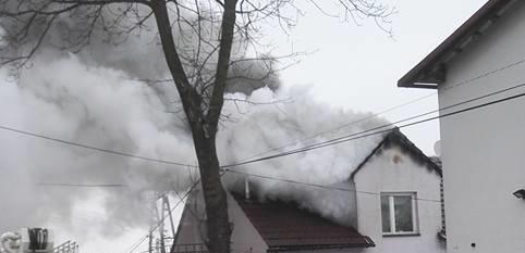 Jaśkowice: pożar domu