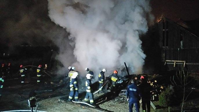 Pożar budynku przy ul. Łanowej