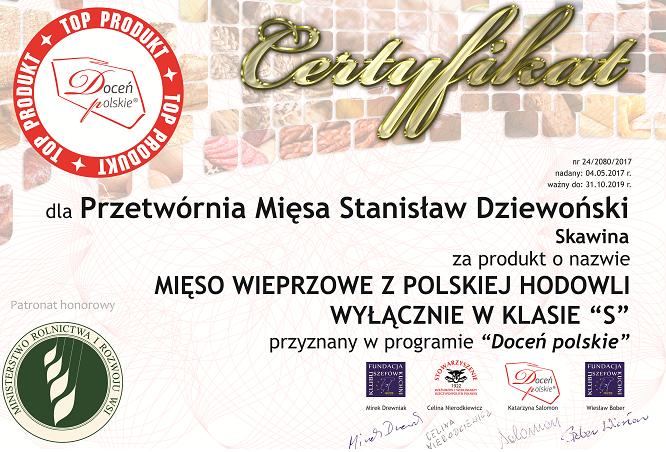 ZPM Dziewoński znowu z certyfikatem