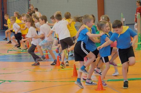 Przedszkolaki w sportowej olimpiadzie
