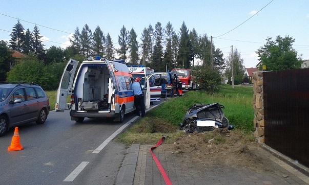 Radziszów: dwie osoby ranne w wypadku
