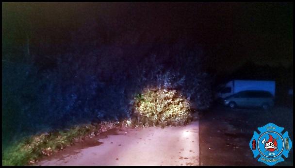 Orkan Ksawery: trudna noc w gminie