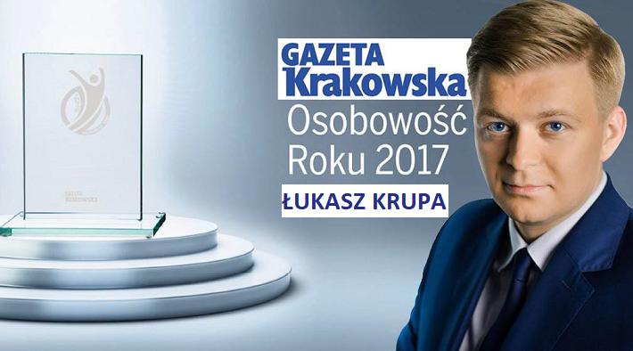 Łukasz Krupa osobowością roku 2017