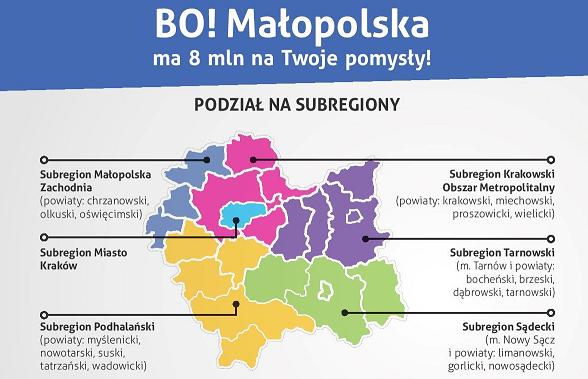 Osiem milionów na małopolski BO