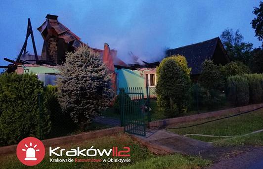 Pozowice: pożar. Piorun uderzył w dom