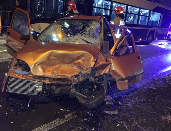 Wypadek w Gołuchowicach