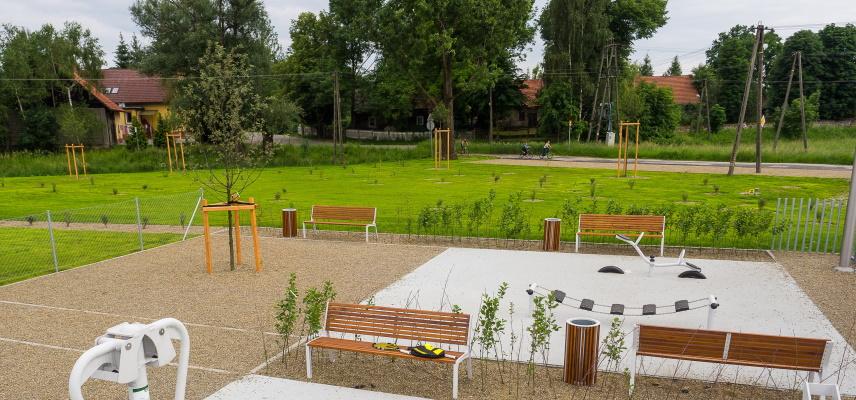 Pozowice: teren przebudowany
