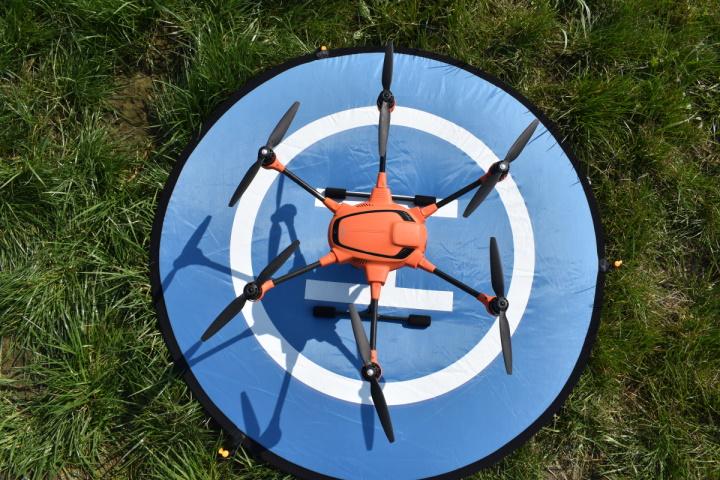 Dron skontroluje domowe kotłownie