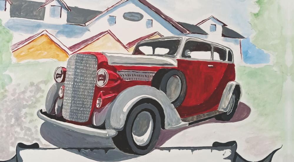 Piękne stare samochody na rynku
